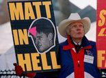 Fred Phelps, anti-gay Westboro Baptist founder finally dead.  When your mark on the world is one of hate, don't be surprised when your exit from this world is rejoiced.