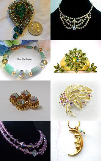 Vintage Aurora Borealis Jewelry  by D LHitch on Etsy--Pinned with TreasuryPin.com
