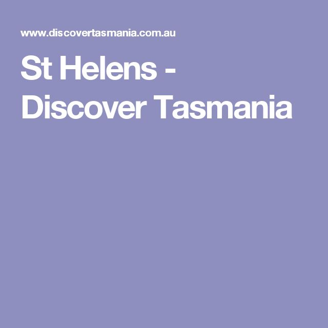 St Helens - Discover Tasmania