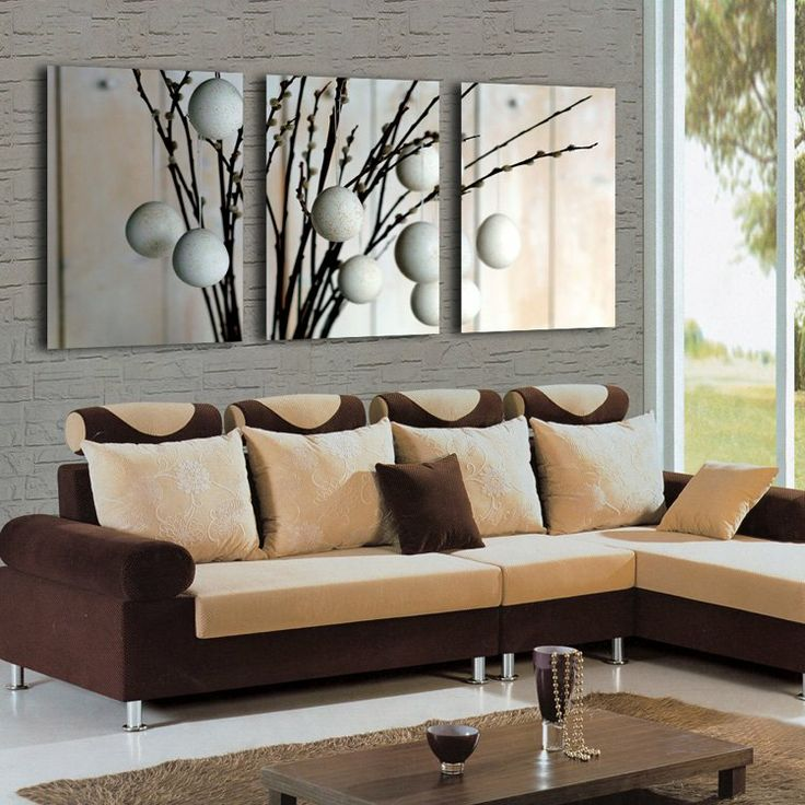 Hot Sale 3Panels Interesting Huge Modern Charm Wall Hanging Art 47 No