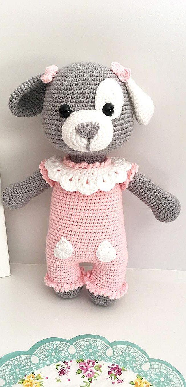 Crochet Amigurumi Puppy Dog PATTERN ONLY, Jack Pup, pdf Stuffed ... | 1350x652