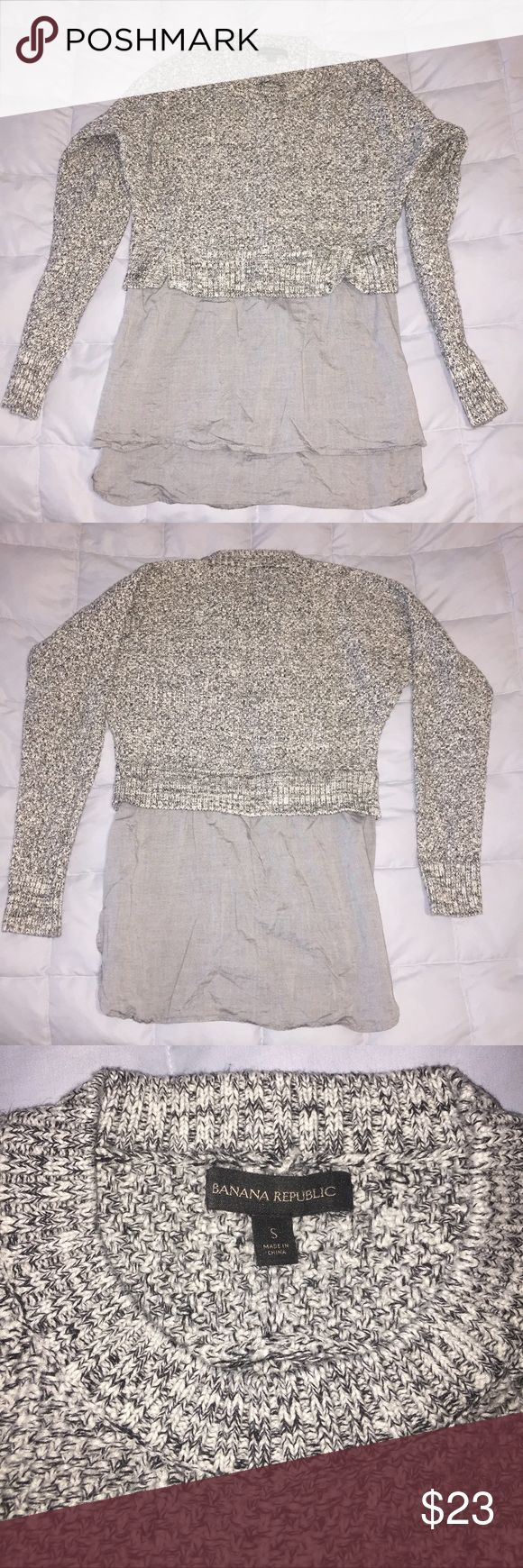 Banana Republic Shirttail Sweater Tunic Size small, roomy fit Like new condition, worn gently a handful of times Very soft & looks awesome with leggings!  From winter 2014/2015 - purchased from banana republic in the mall.   All my items are from a smoke free home. Banana Republic Tops Tunics