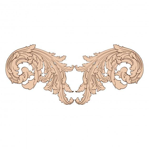 Classical Baroque Set Of Vintage Elements In 2020 Watercolor Floral Wedding Invitations Wedding Logo Monogram Soft Pink Wedding