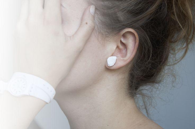 kolczyki crystal  |  crystal earrings  #handmade #design #white #earrings