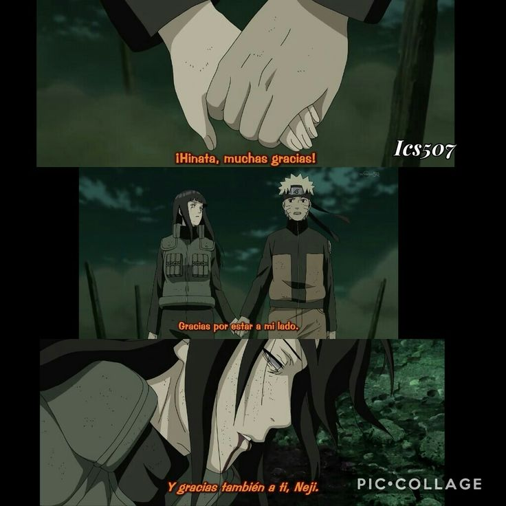 """Ambos salieron despedidos por los aires, y aunque Uzumaki intentó salvarlo,Neji terminó muriendobajo las lágrimas de su desconsolada prima. No obstante su recuerdo permaneció en el resto de personajes, e incluso cuando Boruto nació, esterecibió el nombre en honor al ninja. En japonés, al hijo de Naruto se le conoce como""""Bolt"""", que traducido viene a significar algo similar a""""Neji""""-tornillo-en ese idioma."""