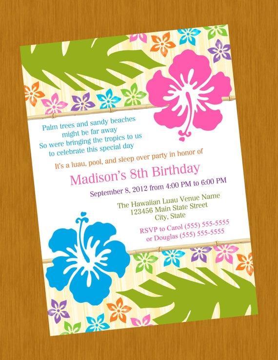 Printable Hawaiian Luau Birthday Anniversary Baby by jessica91582, $10.00