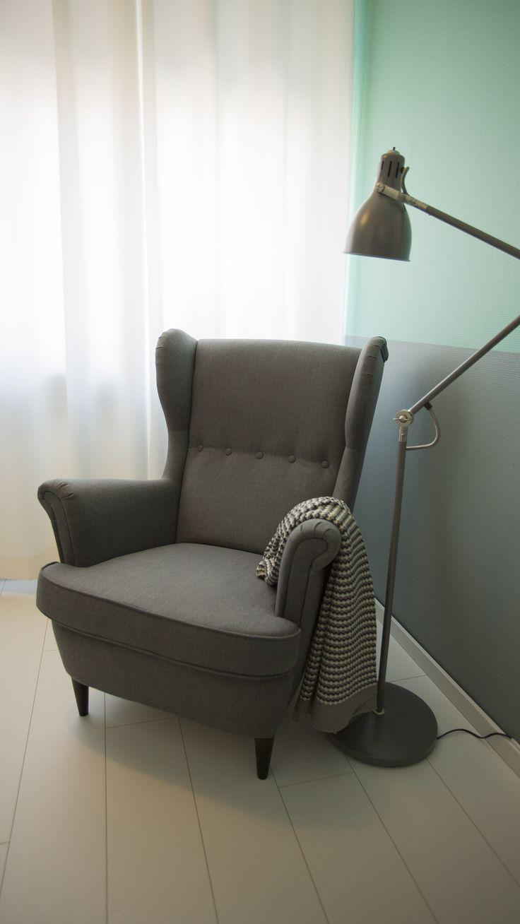 STRANDMON oorfauteuil | #IKEA #LangLeveVerandering #babykamer #baby #fauteuil #stoel