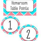 Chevron Table Point Labels!  Great for multiple classes. Use these labels to reward students for great behavior. Includes Labels for both math and ...