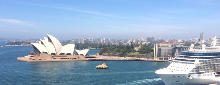 View from the Sydney Harbour Bridge 26/10/14