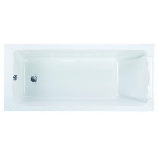 Baignoire rectangulaire Sofa JACOB DELAFON, acrylique, 160x70 cm