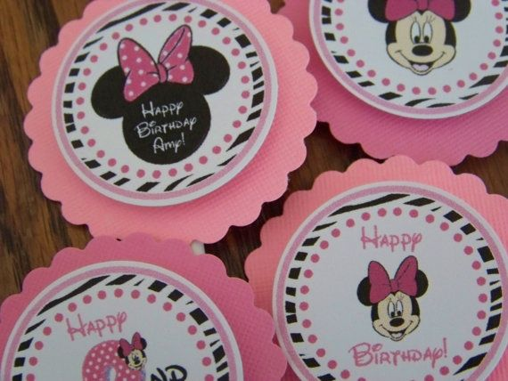 Minnie Mouse Cupcake Toppers-Minnie Mouse by PartiezwithPizazz