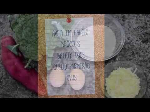 2 xícaras de aveia em farelo (ou aveia passada no processador) 1 brócolis pequeno 1 batata doce 1 xícara de queijo parmesão ralado grosso 2 ovos Sal e pimenta a gosto  Modo de preparo Pique o brócolis em pequenas porções e reserve. Cozinhe a batata doce no vapor, ou por 6 minutos no microondas, e amasse. Em um recipiente misture a aveia com o brócolis, acrescente a batata, o queijo e os ovos já batidos e temperados com sal e pimenta. Enrole os bolinhos e coloque em uma forma untada, asse por…
