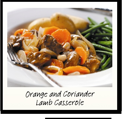 Orange and Coriander Lamb Casserole