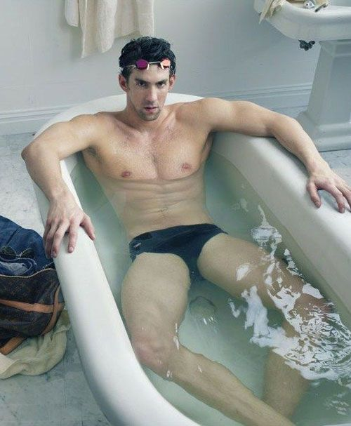 Michael Phelps Brings His Louis Vuitton To The Bathroom