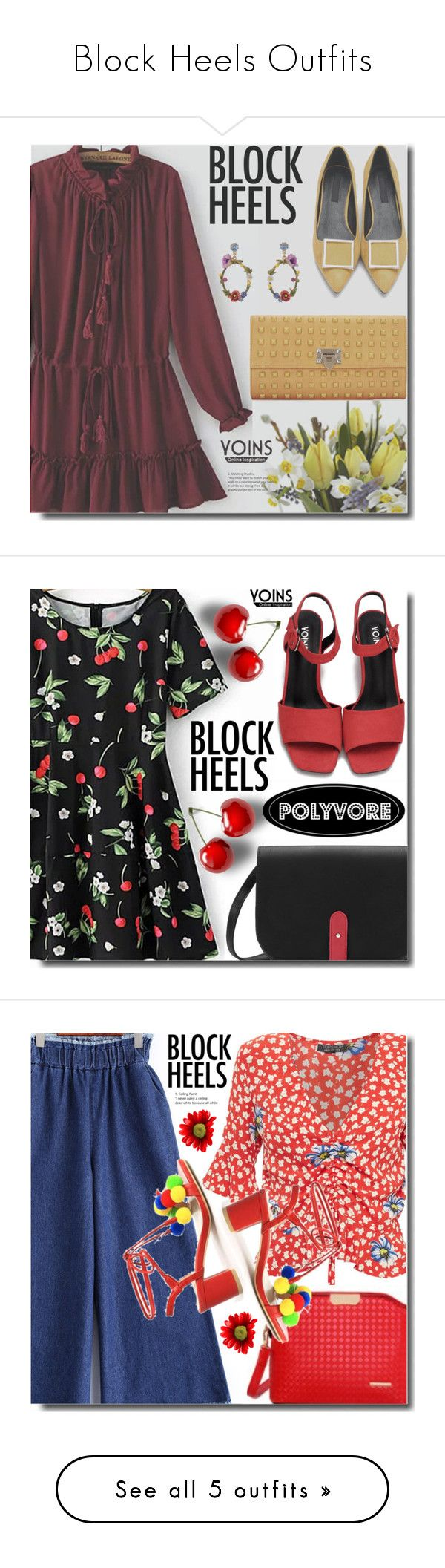 """Block Heels Outfits"" by soks ❤ liked on Polyvore featuring Les Néréides, polyvoreeditorial, Topshop, Mercedes Castillo and Hollister Co."