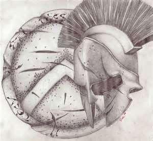 Spartantattoo2MBjpg Spartan Shield And Helmet Tattoo Concept