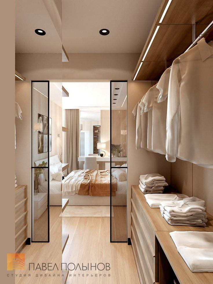 Фото дизайн гардеробной комнаты из проекта «Дизайн проект 1-комнатной квартиры 70 кв.м. в ЖК «Риверсайд», современный стиль»