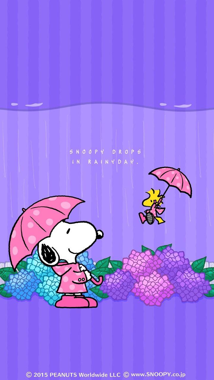 Woodstock quot peanuts quot desktop wallpaper - Rainy Day Snoopy W Woodstock