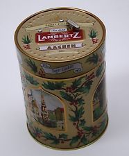 "Music Box Cookie Tin Lambertz Aachen Sugar Cookie 2003 German ""Silent Night"""