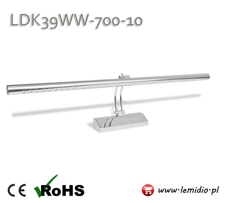 Kinkiet LED nad obraz / lustro na ścianę naścienny LDK39WW-700-10