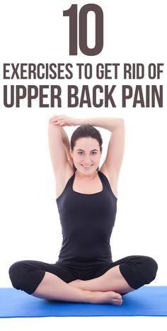 23 best exercises for upper back pain images on pinterest