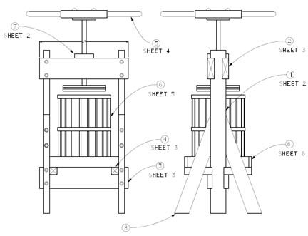 Downloadable #cider-press plans. Use to make #apple-cider or #perry.