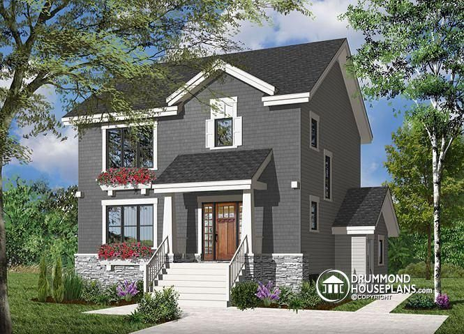 Basement Appartment Craftsman Inpired Style Home Plan, Income Property Home  Or Intergenerationnal Concept # 2779
