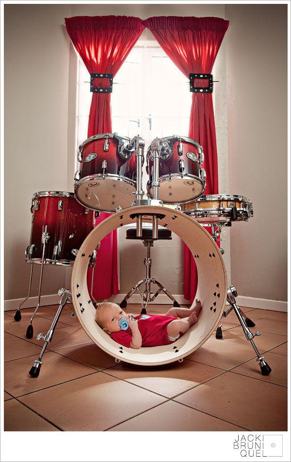 newborn portraits drum set - Google Search