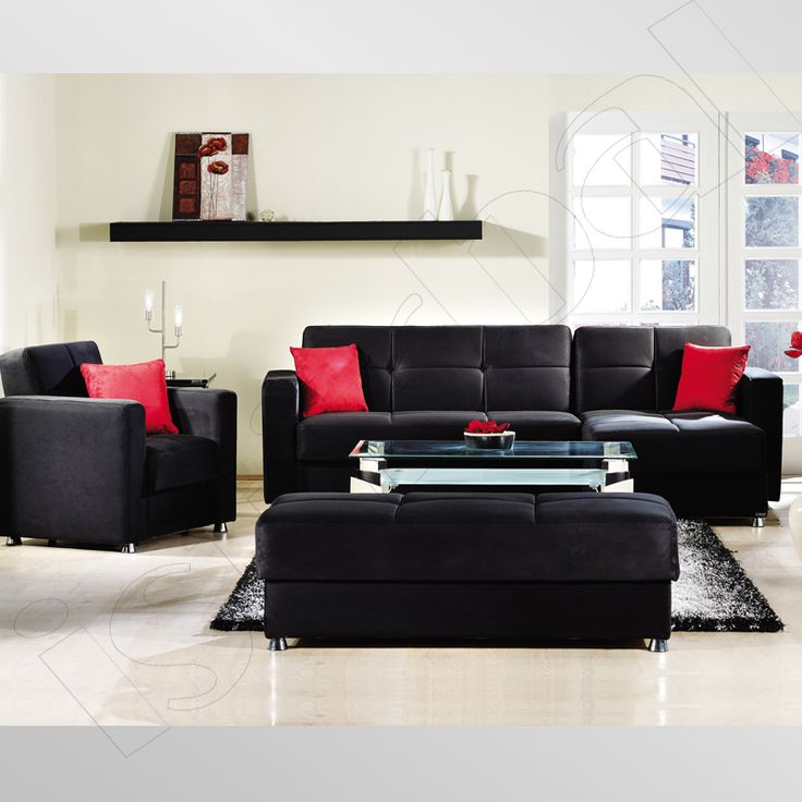 Black Leather Sofa Living Room Inspiration Ideas Couch