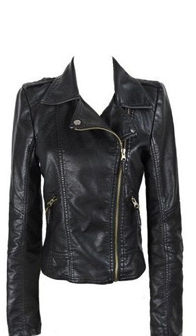 Handmade women's black leather jacket women by customdesignmaster, $149.99