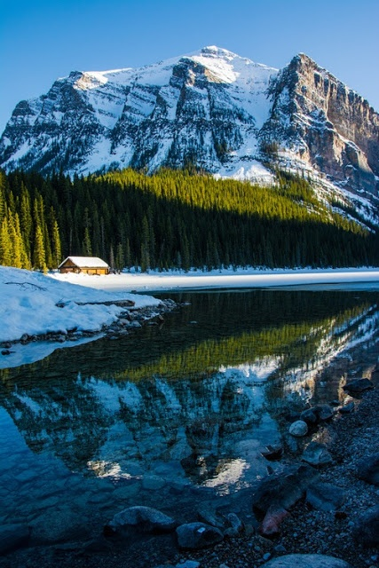 Lake Cabin Banff Canada Mostbeautifulpages My Parents