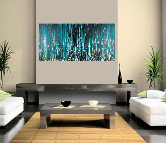 Modern Wall Art Original acrylic Abstract Wall Art by QiQiGallery