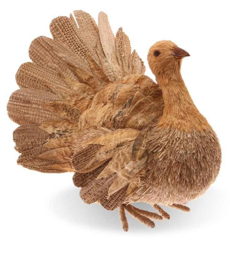 Natural Harvest Thanksgiving Decorative Turkey
