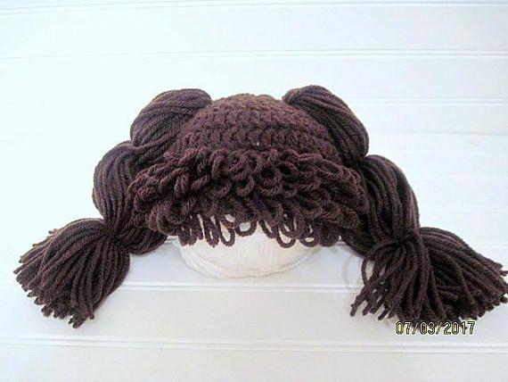 Newborn Hat Cabbage Patch Baby Hat Baby Doll Hat Crochet