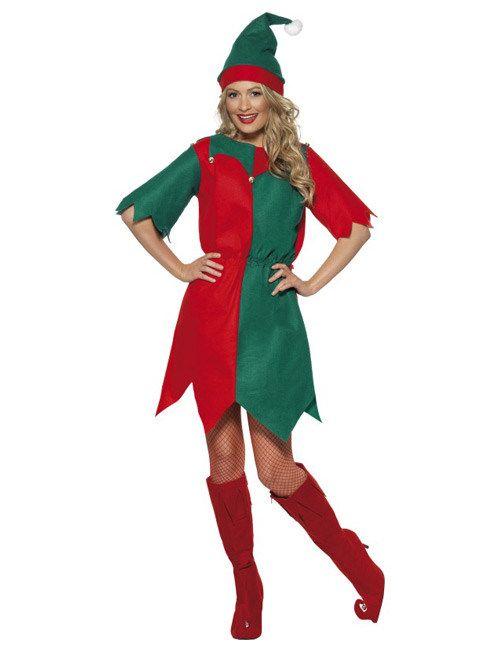 Weihnachtswichtel Damenkostüm Elfe rot-grün aus der Kategorie Karnevalskostüme / Weihnachtskostüme. Wo wäre der Weihnachtsmann nur ohne seine zahlreichen Helfer und Helferinnen? Die wahre Arbeit, damit zur Bescherung alles rund läuft, wird von den fleißigen Weihnachtswichteln in den Geschenkfabriken geleistet!