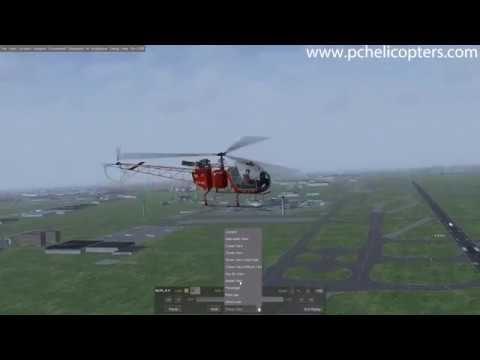 Free Aérospatiale SA315B Lama helicopter flight simulator for