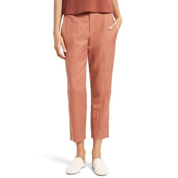 Women's Vince Carrot Tapered Leg Ankle Pants (14,660 PHP) ❤ liked on Polyvore featuring pants, capris, fig, ankle length jeans, ankle length pants, white short pants, peg leg pants and ankle pants