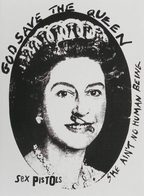 """JAMIE REID - God Save The Queen Silk Screen Poster- ■シルクスクリーン印刷になります。■サイズ:101.6cm x 73.6cm■ジェイミー・リード直筆によるナンバリングとサインが入ります。 56,160 Yen (with Tax) *送料別途2,000円 White/Black White/Silver White/Red Blue/Silver ジェイミー・リードの作品は,76年のパンク全盛期やセックス・ピストルズと密接に関わってきた事で知られています。ジェイミー・リードの創り上げた、エ リザベス女王2世25年祝典の破壊的な肖像は英国中に衝撃を与え、その波動は全世界に広がっていきました。そしてその当時人々が受けた強烈な興奮とエネル ギーは、現在になっても失われる事無く持続しています。ジェイミーの大量生産的な切り貼りされた肖像はポップカルチャーに非常に深く根ざしているという事 が出来るでしょう。 """"God Save The Queen and Never Mind The ..."""