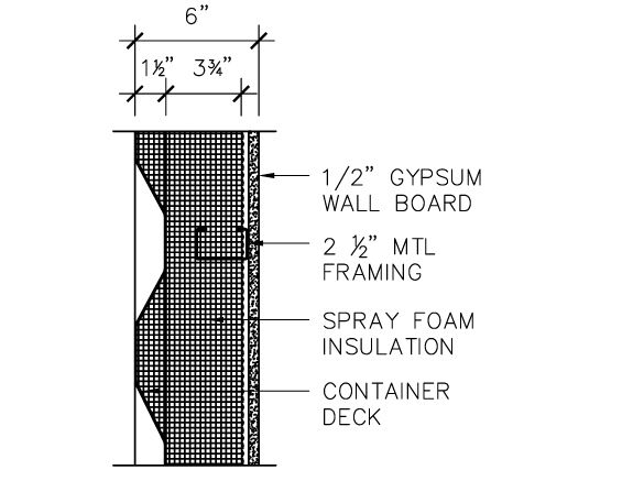 Shipping container plan and section details residential shipping container primer rscp - How do you insulate a shipping container home ...