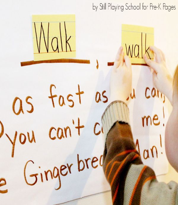 Gross motor (small group or circle time) activity-gingerbread man usually runs, but how else could he move?
