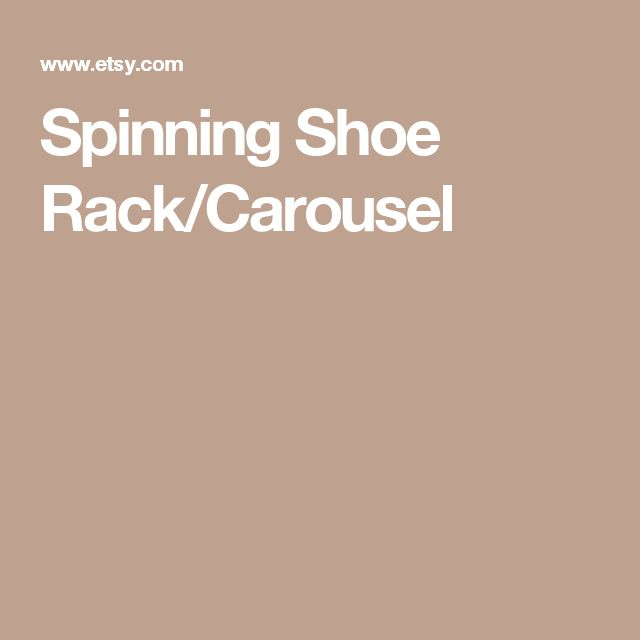 Spinning Shoe Rack/Carousel