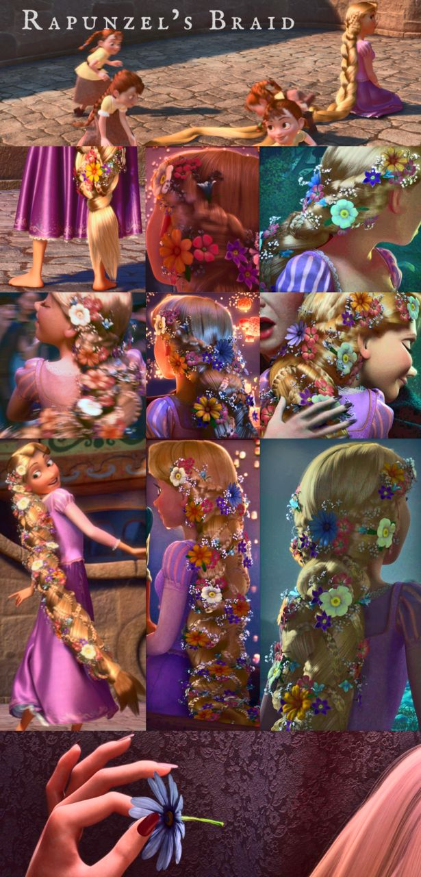 Rapunzel's braid!! It really goes with her personality. I would definitely do something a bit similar. Not magica! Nope, not magica! because of truth.