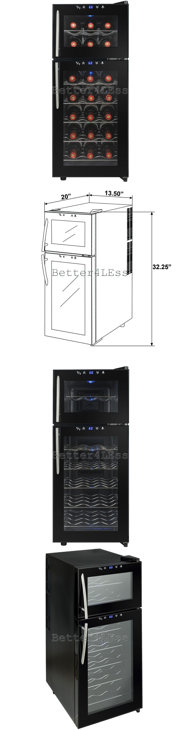 Wine Fridges and Cellars 177750: 21 Bottle Dual Chiller Refrigerator Thermoelectric Freestanding Wine Cooler -> BUY IT NOW ONLY: $99.99 on eBay!