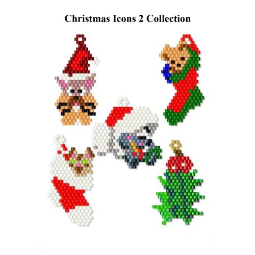 Christmas Icons 2 Collection | Bead-Patterns.com