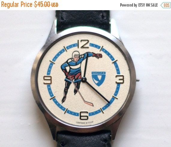 Soviet watch Vintage Watch Russian watch hockey watch Mens