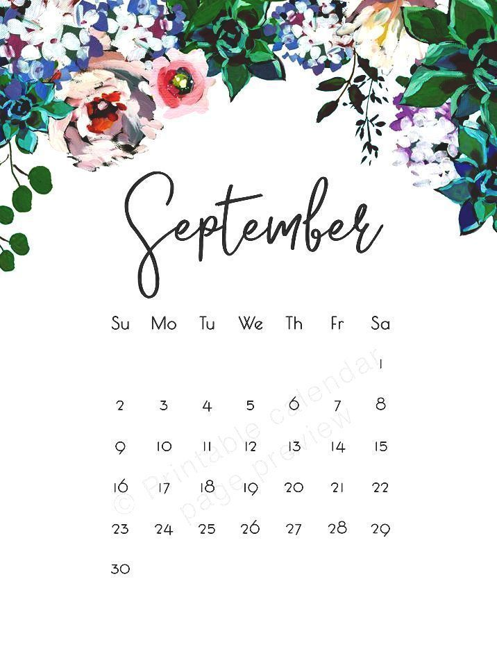 60 Free Printable September 2020 Calendars To Download In 2020 Calendar Wallpaper September Calendar Calendar Template
