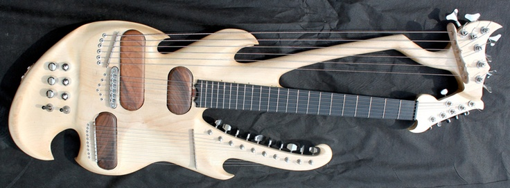 Guitar Blog: Incredible 35-string electric harp #guitar by Slovenian luthier Marko Lipovšek