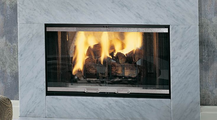 17 best images about wood burning modern fireplace inserts for Modern wood burning insert