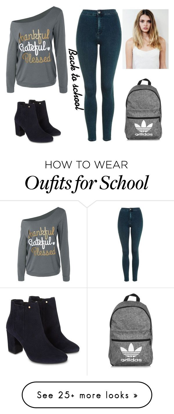 """Back to school"" by tumblr-girl-xd on Polyvore featuring Topshop, adidas and Monsoon"