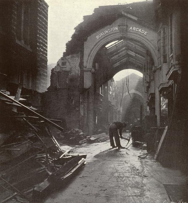 Burlington Arcade in Piccadilly, September 1940, by Lee Miller.